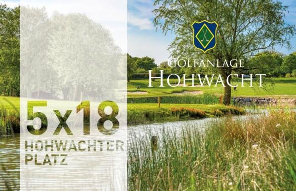 5er-Karte Greenfee 18-Loch Hohwachter Platz