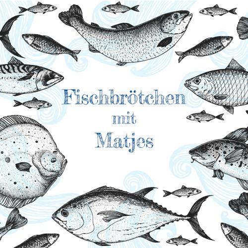 Fischbrötchen mit Matjes und eingelegten Zwiebeln