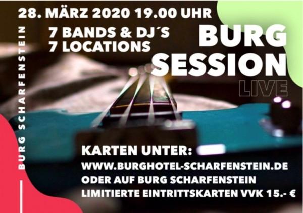 Eintrittskarte für Burg Session Live am 28.03.2020 um 19:00 Uhr
